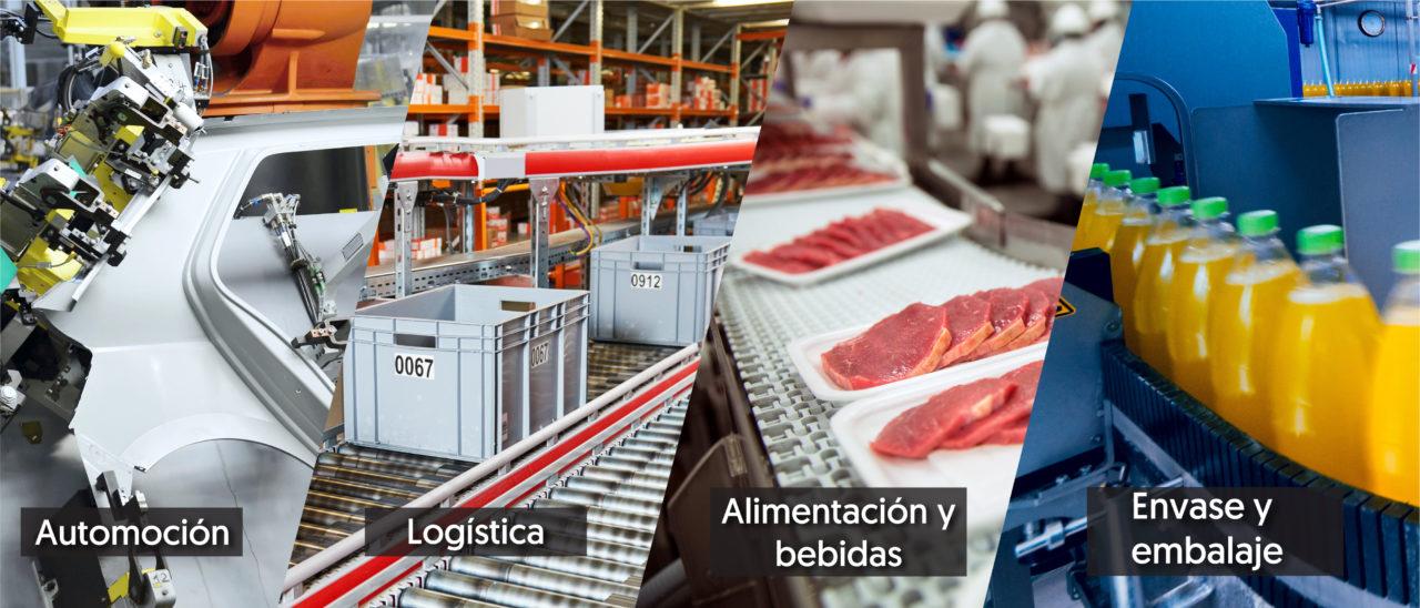 Sectores industriales para cajas activas Molex