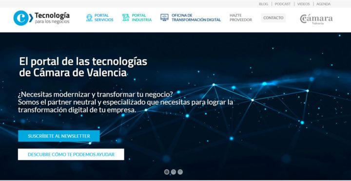 TIC Negocios de Cámara de Valencia página web, el portal de la tecnología para los negocios.