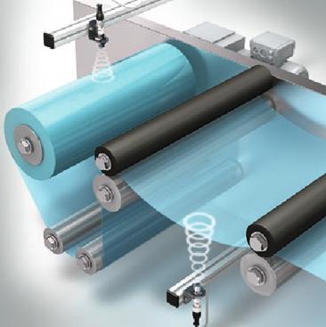 Aplicación comprobación del diámetro del rodillo ultrasonidos di-soric